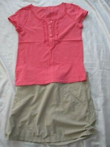 Athleta Skort & Faded Glory Shirt Out Fit 2 Pieces Size Medium/6 (p43)