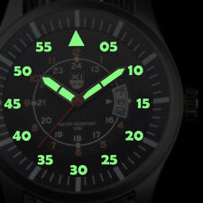 Military Mens Stainless Steel Luminous Dial Date Luxury Sport Wrist Watch New