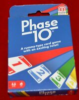 Mattel Phase 10 rummy type Card Game sealed