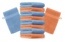 Betz Set di 10 guanti da bagno Premium misure 16 x 21 cm 100% cotone arancione e