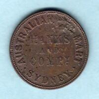 Australia Token. Hanks & Co - 1857 1/2d..  Sydney NSW