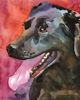 Black Lab Gifts | Labrador Retriever Art Print from Painting, Poster 11x14