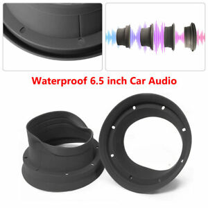2pcs Car Door Audio 6.5 inch Speaker Ring Waterproof Cover Foldable Trim Washer