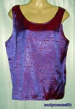 Thai Silk Blouse / Top / Jacquard Weave / Purple / XXL / UK 24