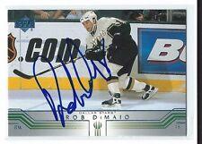Rob DiMaio Signed 2001/02 Upper Deck Card #288