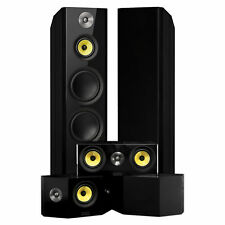 Signature Series Surround Sound Home Theater 5.0 Channel Speaker System - Black