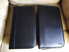 Lot of  2 Case Logic Portable CD Carry Cases Wallets Black Hold 72 Each