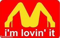 I'M LOVING IT HELMET TOOLBOX LAPTOP BUMPER STICKER DECAL MADE IN USA