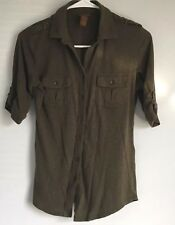 Copper Key Green Women's Half Sleeve Shirt Size Small