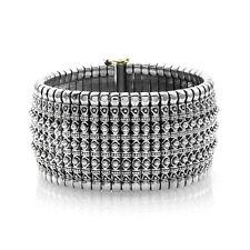 Konstantino Hera Wide Sterling Silver Cuff Bracelet | FJ