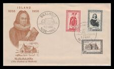 Iceland 1956 FDC, 900th Anniversary og the Bishopric of Skálholt. Lot # 7.