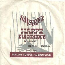 SAVAREZ Corde à l'unité Harpe Diatonique - SOL-A-34 5ème Octave