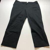 Gap Slim City Crop Black Chino Pants Size 16 A1176