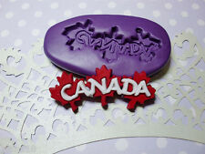 Silicone Mold Canada Wording Mould (43mm) Cake Topper Jewelry Clay Scrapbooking