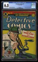 Detective Comics #77 CGC FN+ 6.5 Off White to White