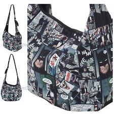 DC Comics Batman Joker Comics Collage Panels Hobo Bag School Tote Purse NWT