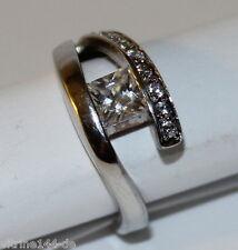 Ring mit Zirkonia weiß 925er Sterling Größe 54 Damenring Fingerring
