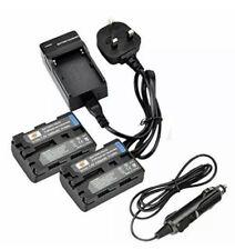 Dste® 2Pcs Np-Fm50 Rechargeable Li-Ion Battery & Charger Dc01U For Sony Np-Fm30