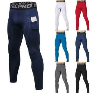 Mens Compression Base Layer Tights Pants Training Fitness Sports Running Bottoms