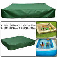 Outdoor Square Garden Kid's Toy Bunker Sand Pit Cover Swimming Pool Tarpaulin UK