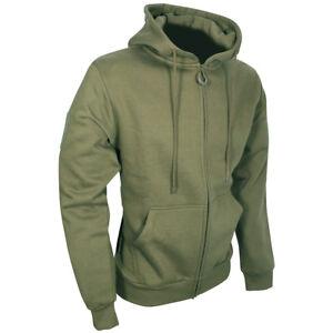 Viper Tactical Mens Zipped Hoodie Camping Hiking Jacket Hunting Sweatshirt Green