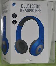 Vivitar Bluetooth Headphones, Blue.