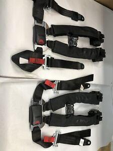 2-Can Am Maverick X3 Retractable 4 Point Harness Seatbelt SEAT BELT XRS