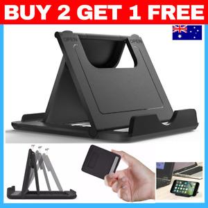 PHONE STAND Black Foldable 360° Universal Desk Mount Cradle Holder tablet