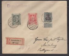 Marienwerder 75 pfg red surcharge wide spacing proof on cover, Michel 18P1