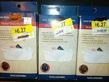 "LOT OF 3 WAIST SECURITY POUNCH RIP STOP NYLON POUCH UP TO 45"" WAIST"