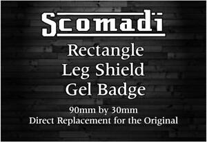 CUSTOM DESIGN Scomadi Leg Shield Gel Badge
