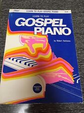 Learn to Play Gospel Piano by Robert Harkness, w/ Demonstration Record