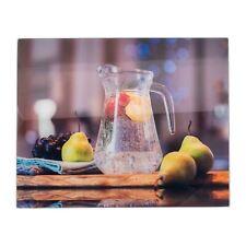Glass Worktop Saver Non-Slip Kitchen Chopping Board - Water Jug - 500 x 400mm