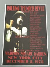 BOB DYLAN - CONCERT POSTER ROLLING THUNDER REVUE M.S.G. NEW YORK 1975 (A3 SIZE)