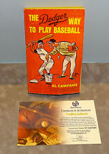 AUTOGRAPH Inscribed THE DODGER WAY TO PLAY BASEBALL Book by AL CAMPANIS w/ COA