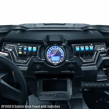 Polaris RZR XP1000 2 Piece Dash Panel Includes (6) Switches Black Powdercoated