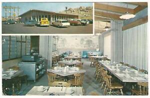 Joe's Café Restaurant Baseball Advertising Postcard Victorville California