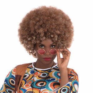 Beyonce Afro Wig Brown Celebrity Pop Star Adults Fancy Dress Costume Accessory