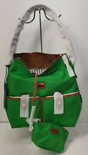 NWT Dooney & Bourke Camden Nylon Hobo Bag with Cosmetic Pouch Kelly Green