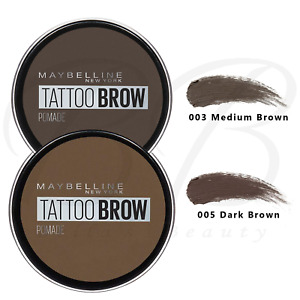 MAYBELLINE Tattoo Brow Long Lasting Eyebrow Tint Pomade Pot *DARK/ MEDIUM BROWN*