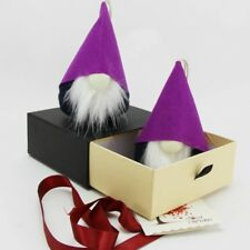 Handmade Swedish Tomte,Small Gnome- Home Decoration Christmas Gifts, Purple 2 pc
