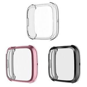 [3 Pack ] for Fitbit Versa 2 Case Soft TPU Bumper Gradient Color Screen Cover