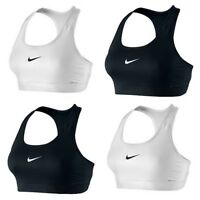 Nike Pro Victory Compression Sports Bra Dri Fit Gym Training Black White