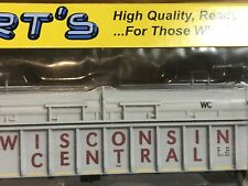 New ListingHo Scale Hubert's Wc Cn Covered Coil Steel Mill Gondola Wisconsin Central Ic