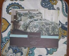 Cynthia Rowley JACOBEAN FLORAL Exotic Full Queen Duvet Comforter Cover Set NIP