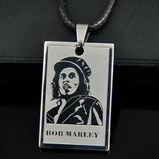 Cool Reggae Bob Marley Stainless Steel Pendant Necklace