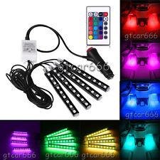 Glow Full Color LED Car Interior Kit Under Dash Footwell Seats Inside Lighting
