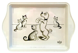 Dubout Cats Cat Dog Training Metal Scatter Tray Platter Dish (Dressage de Chien)