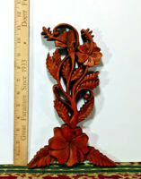 1 Small Hard Wood Flower Art Sculpture, Hand Crafted Wall Decor, Made in Bali