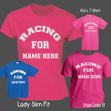 Womens customised unique glitter race for life Nude Boob T-Shirt BREAST CHARITY